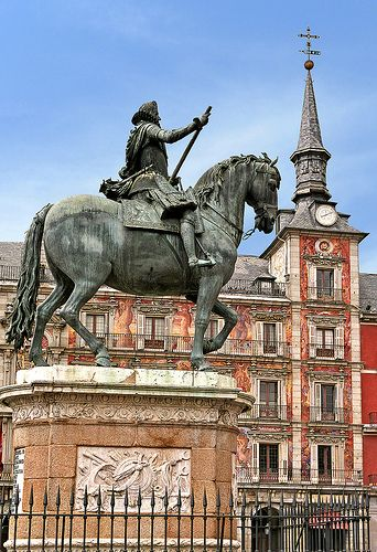Felipe III in Plaza Mayor, Madrid, Spain