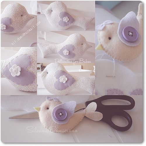 felt bird  liszha: so cute!!!