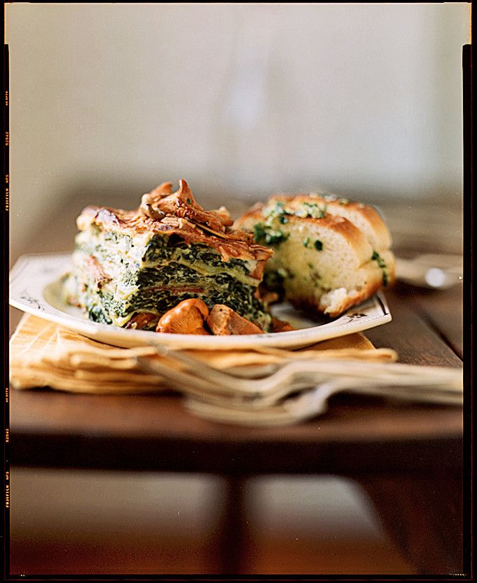 Top this vegetarian lasagna with a creamy sauce made from Madeira wine and lots of fresh parsley.