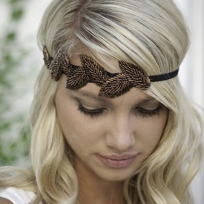 Artsy hair band. shop. Love that it is leaves instead of flowers. CAH