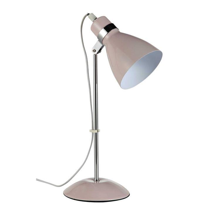 Lampe de bureau en métal rose H 38 cm   Maisons du Monde