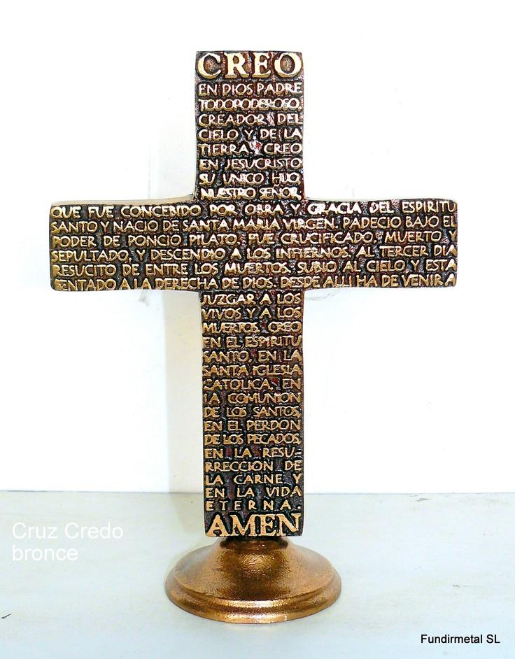 """Cruz oración bronce """"credo""""  www.articulos-religiosos.es"""