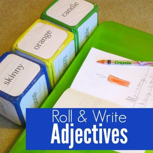 Roll and Write Adjectives Activity with Free Printable                                                                                                                                                     More