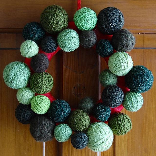 yarn wreath | Crochet | Pinterest