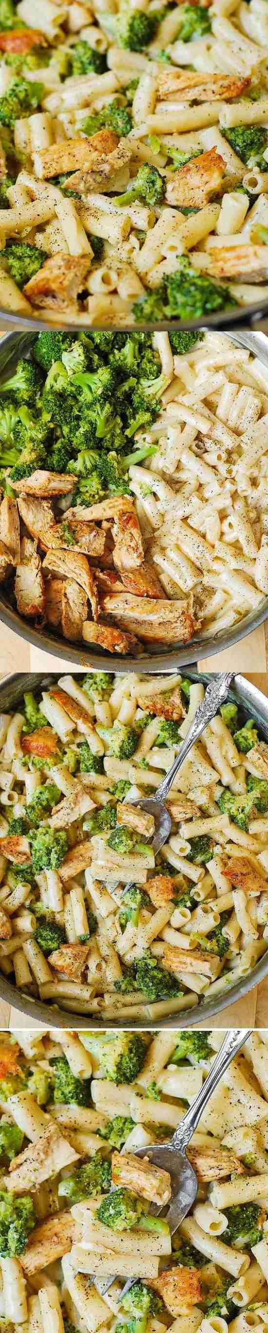 Chicken Broccoli Alfredo Penne Pasta – chicken breast, broccoli, garlic in a simple homemade creamsauce. Delicious, creamy, Italian-style pasta dinner. …