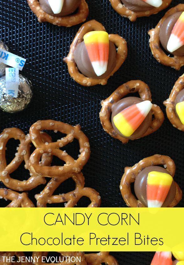 Candy Corn Chocolate Pretzel Bites | Recipe | The o'jays ...