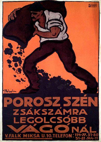 biro coal poster porosz szén