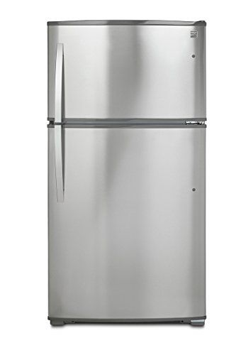 Top Freezer Refrigerator With Ice Maker And Led Lighting In Stainless Steel Active Finish Includes Delivery 21 Cubic Foot Capacity