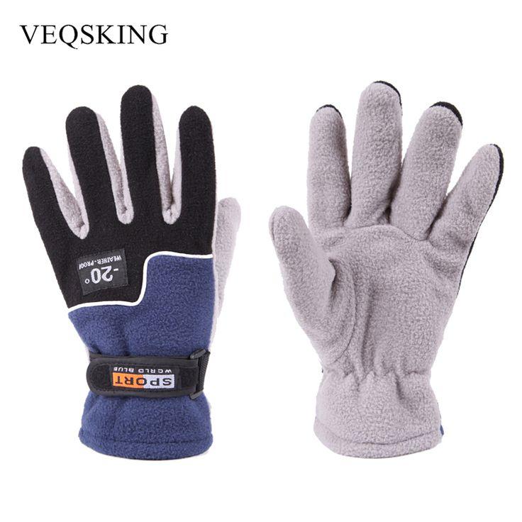 Winter Hiking Gloves Warm Fleece Thermal Ski Gloves Men's Full Finger Gloves Sport Bicycle Motorcycle Gloves