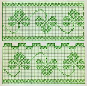 Un copriletto  formato da strisce lavorate a filet . Il trifoglio  è il motivo dominante del lavoro.Molto semplice da realizzare, adatto a...