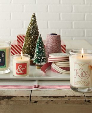 Christmas message candles - naughty & nice