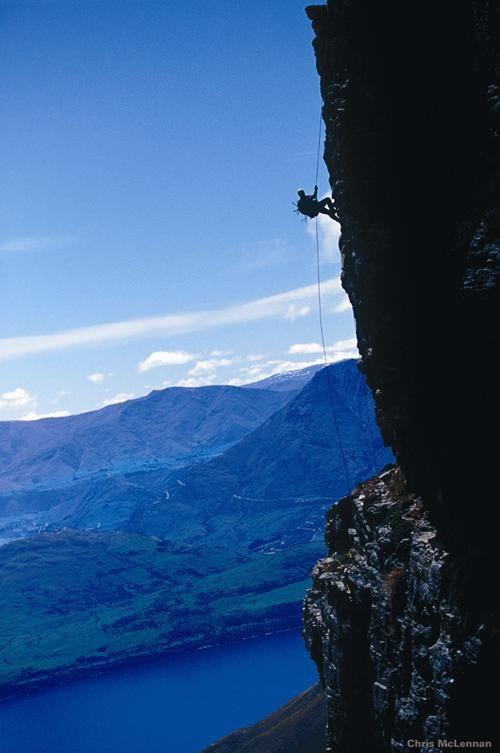 Abseiing (rock climbing), Nelson, New Zealand