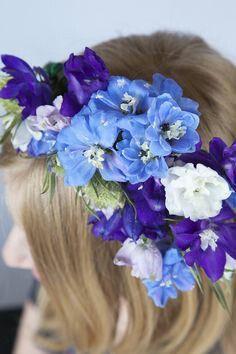 Delphinium Floral Crown