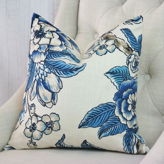 High End Designer Throw Pillows Part - 20: Blue Pillow, One Sided Pillow Cover, High End Designer Pillow, 03711 Navy
