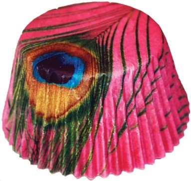 Peacock Cupcake Wrapper- who knew the wrapping could be a work of art too?