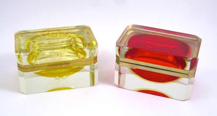 Vintage Murano Glass Caskets