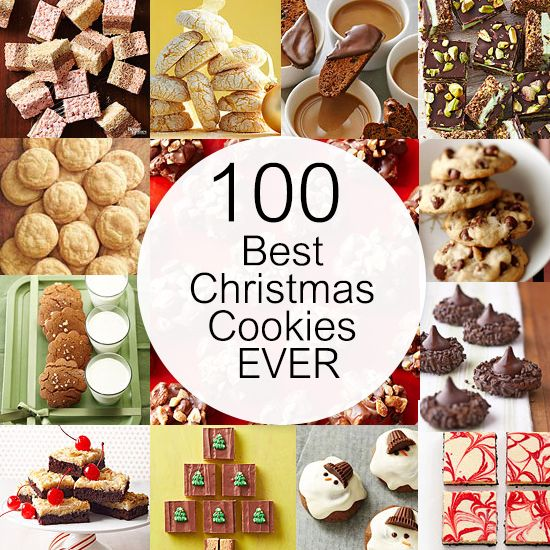 No bakes, classic cookies, crispy treats, cookies that start with a mix, tassies...the list of fantastic, time-tested cookies in this collection goes on and on (well, technically we limited it to 100, but that should last you until Santa arrives). Read on for recipes featuring our best-ever Christmas cookie creations.