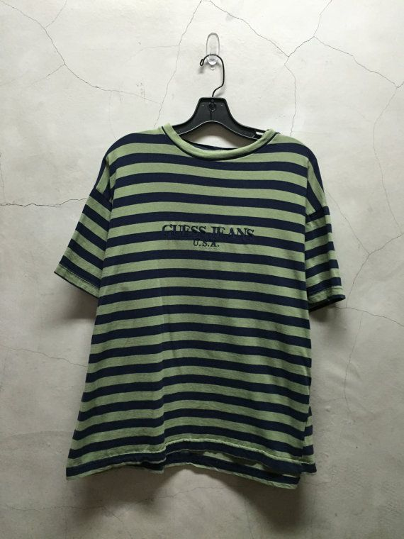 vintage Guess Jeans Guess Jeans shirt striped by imtryingtofocus