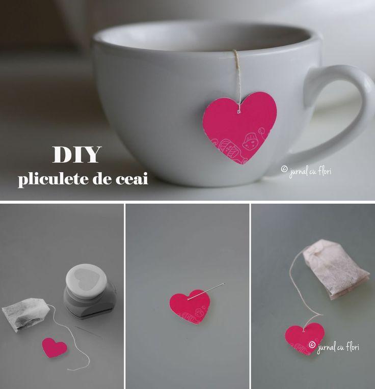 diy valentine pliculet de ceai cu inimioara
