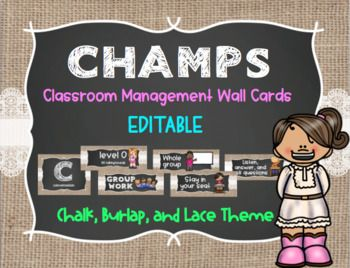 CHAMPS Management System Wa... by The Koalafied Teacher | Teachers Pay Teachers