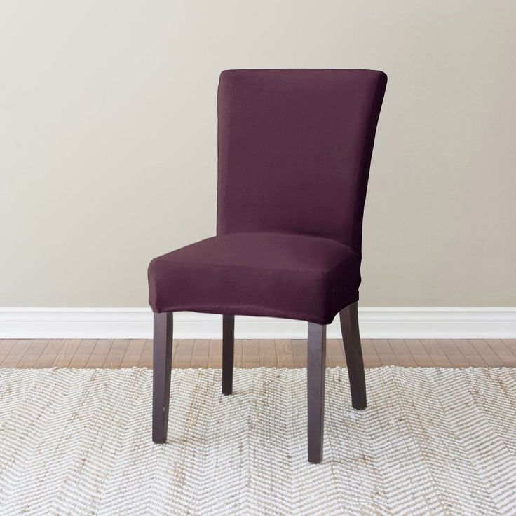 Purple Dining Chair Slipcovers   The Moment Entering An Elegant Kitchen Room  The Furniture Is The Essential Thing That A Maj