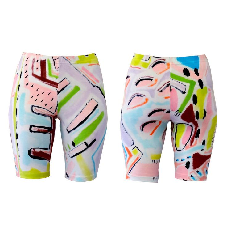 Abstract Original Bike Shorts - hand painted, so each pair is completely unique! Leggings are also availabe