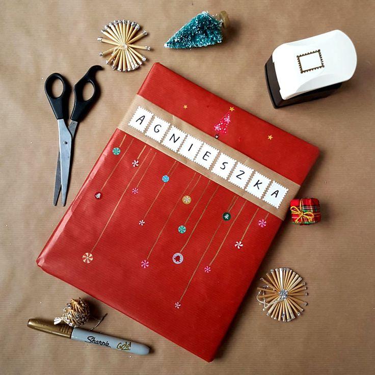 kreatywne pakowanie prezentów [creative gifts wrapping - stamps]