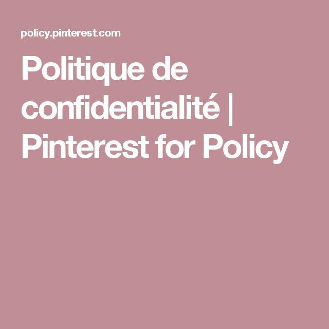 Politique de confidentialité | Pinterest for Policy