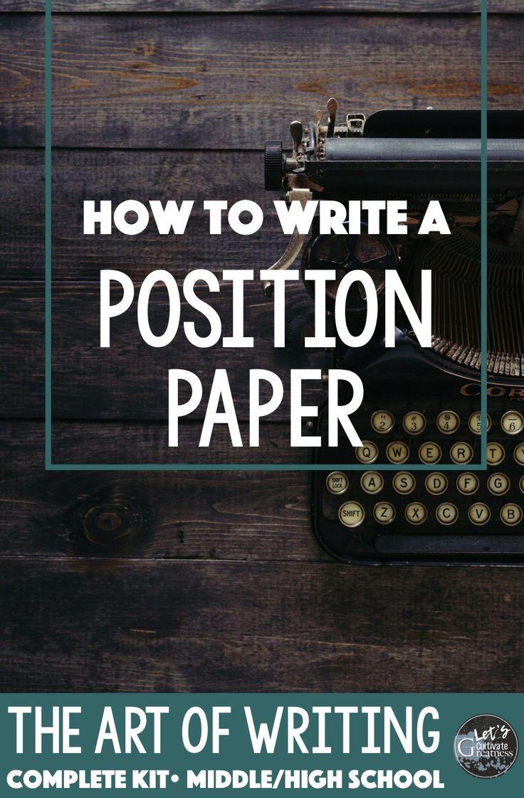 position paper essay