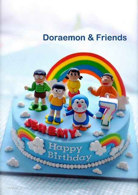 Doraemon And Friends Cake