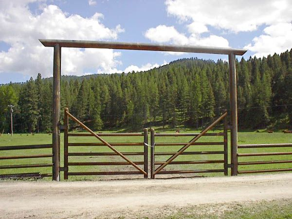 Bison pipe steel fencing gates jerome id fence