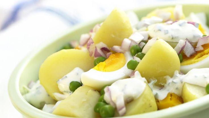 Oppskrift på potetsalat med egg