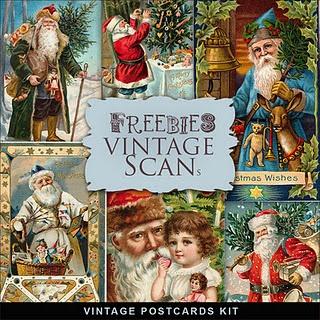 Free Antique Santa Printables