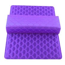 Pro Nail Art For Women Silks Satin and Rests Arm Pillow Cushion Fish Scale Shaped Manicure Salon Mat Pad Accessories Kits TN //FREE Shipping Worldwide //