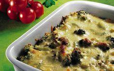 Pastafad med oksekød og broccoli Lige så godt som lasagne....så selv Garfield ville få et lille bitte smil om munden.