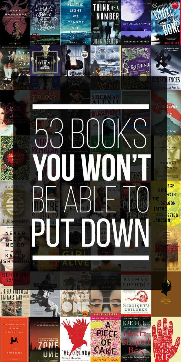 53 Books You Won't Be Able To Put Down.