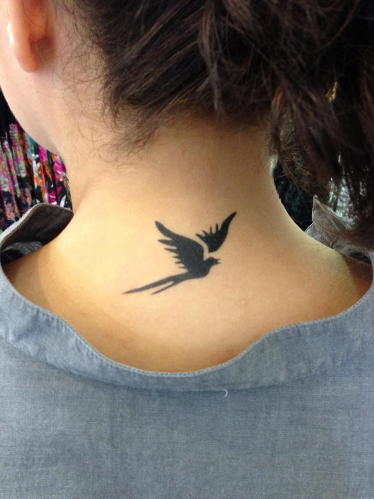 Bird on the back airbrush tattoo airbrush pinterest for Temporary tattoo airbrush paint