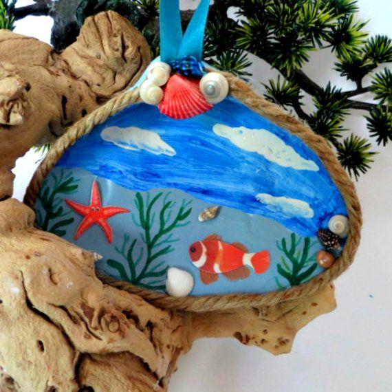 Тропические рыбы ракушка ornament_beach украшения и декор   размера. 5 1/2 х 4 1/2