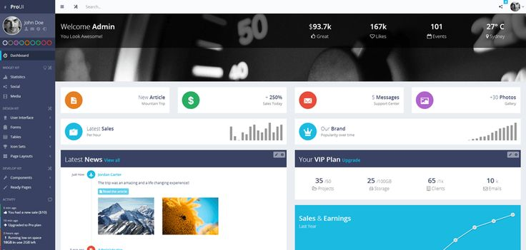 ProUI - Responsive Bootstrap Admin Template | Live preview at http://pixelcave.com/proui