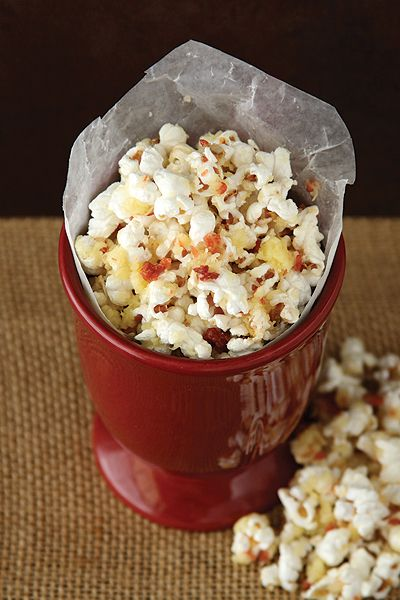 Go savory for St. Patrick's Day with this easy Irish Cheese and Bacon Popcorn. Ready in minutes!
