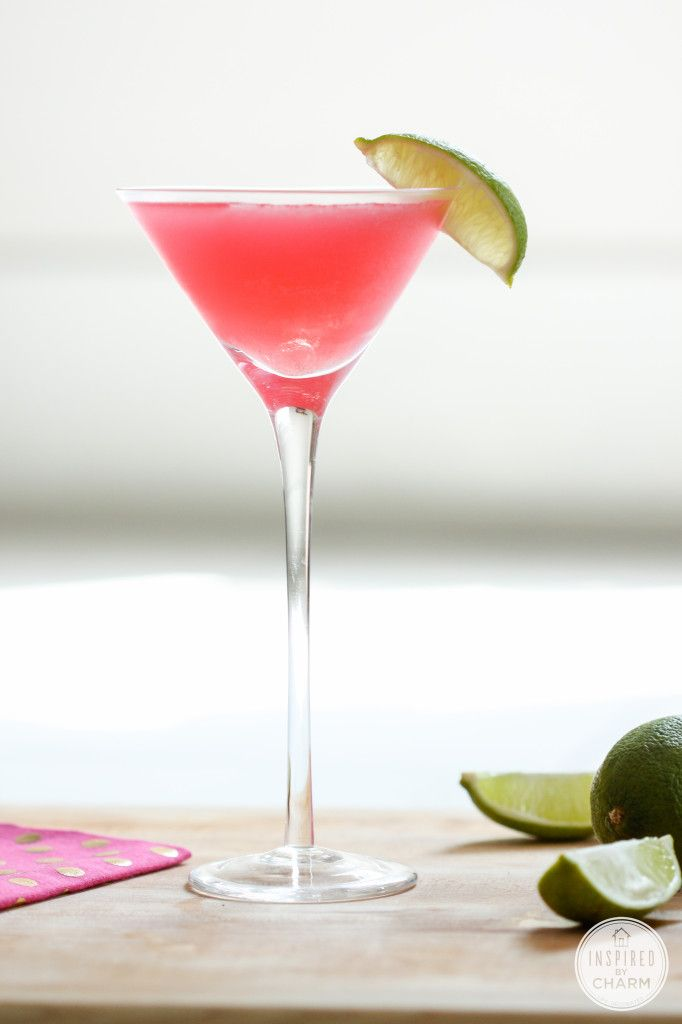 The Perfect Cosmo | 1½ oz citrus vodka ¾ oz Cointreau ¾ oz cranberry juice ½ oz fresh lime juice Lime cut into wedges Add the vodka, Cointreau, cranberry juice, and lime juice to a cocktail shaker filled with ice. Shake vigorously. Pour into a martini glass and garnish with a lime wedge.