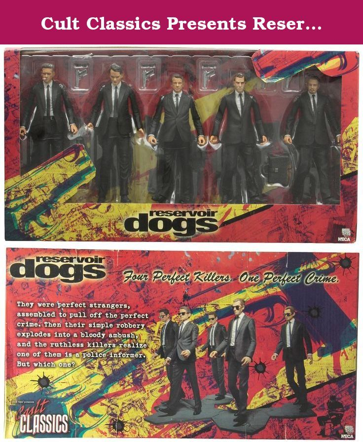 Cult Classics Presents Reservoir Dogs Boxed Set by NECA. They were perfect strangers, assembled to pull off the perfect crime. The core lineup of all 5 Reservoir Dogs are presented here in this boxed set. The 5 figures in 18 cm feature realistic likenesses and include removable sunglasses, guns, and street bases that connect together to form their iconic walking scene from the film. Extra accessories exclusive to the boxed set include the gas can and soda cup.