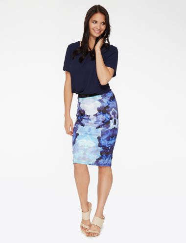 Next level pencil skirt with super wow factor#NewandNow  Stella Dreamy Bloom Pencil Skirt product photo