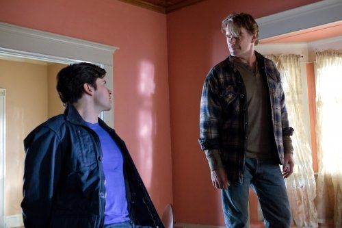 John Schneider and Tom Welling in Smallville