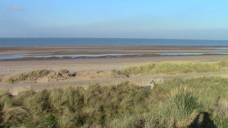 Dunes,Beach & Sea near Rhyl,N.Wales.