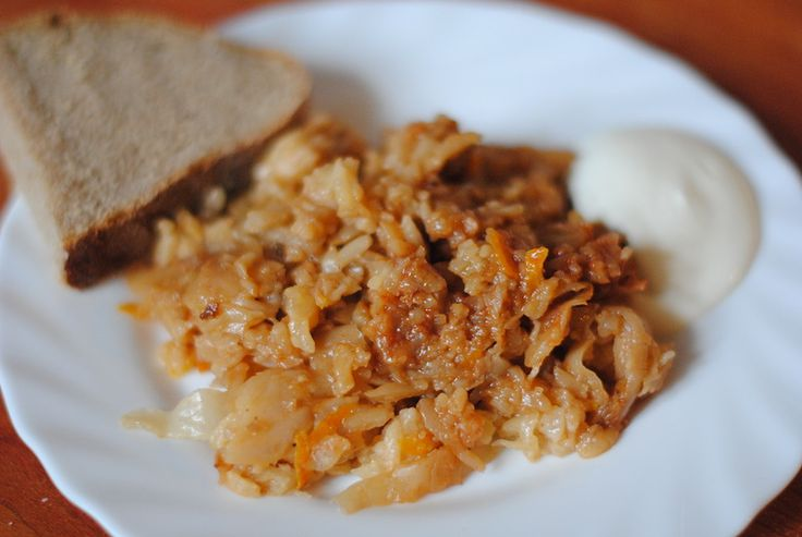 Капустняк или тушенная капуста с рисом в мультиварке): katunjka