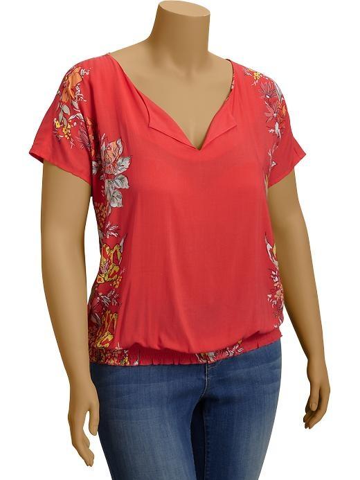 Old navy women 39 s plus smocked blouses fashion for for Denim shirt women old navy