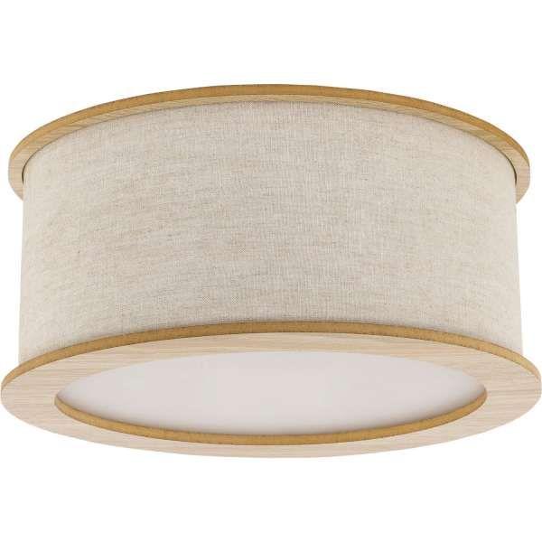 Plafon LAMPA sufitowa FAKTOR DUE 31433 Sigma okrągła OPRAWA abażurowa szarobeżowa