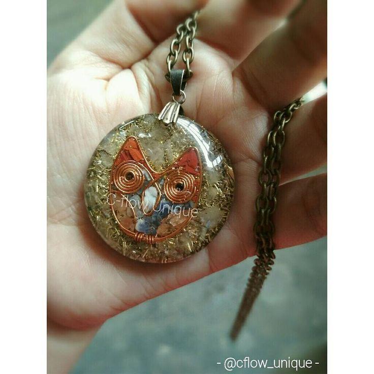 """9 Suka, 1 Komentar - CRystal FLower (@cflow_unique) di Instagram: """"Orgonite Pendant . Made from bronze, metal shavings, quartz n gemstone ❤ . . #orgonite #pendant…"""""""