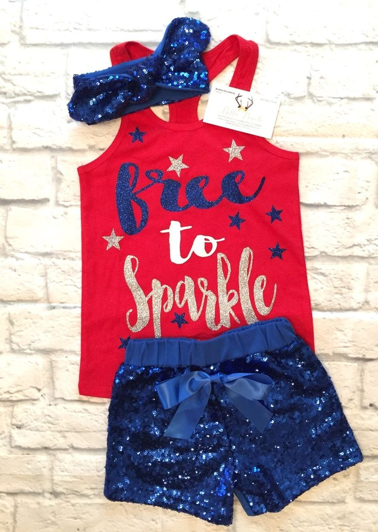 Baby Girl Clothes, Free To Sparkle Tank Top, Girls Fourth Of July Shirt, Fourth Of July Shirts, Girls Fourth Of July, Free To Sparkly Shirts - BellaPiccoli